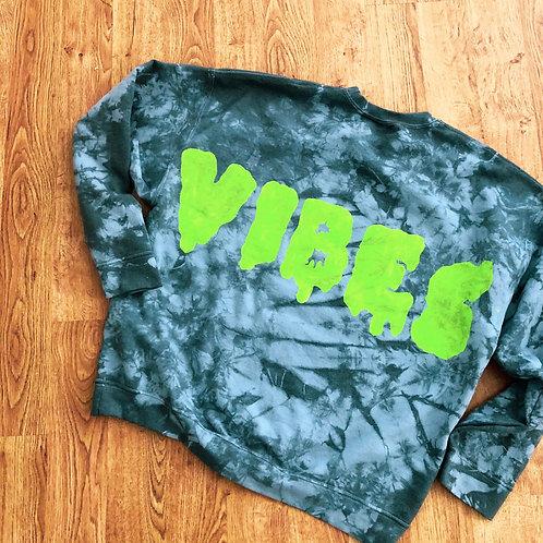 Neon VIBES Crew Neck Sweatshirt
