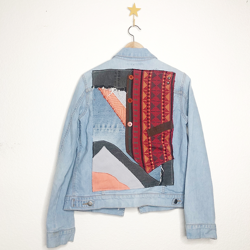 Mountain View Collage Jean Jacket