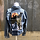 Thumbnail: Reclaimed Denim Jacket: Howling Wolf