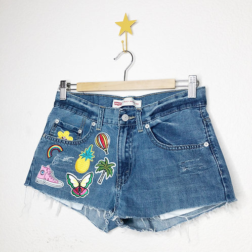 Levi's 505 Patched Summer Vacay Cut Offs