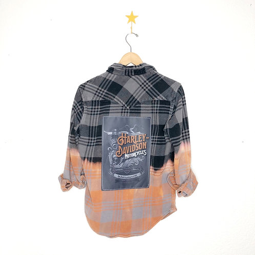 Harley Davidson Graphic Flannel Jacket