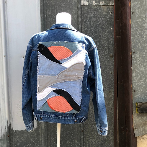 Reclaimed Denim Jacket: Dueling Sunsets
