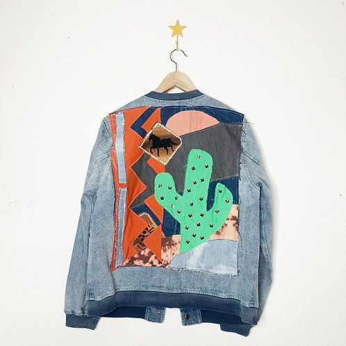 Cactus Collage Jean Bomber