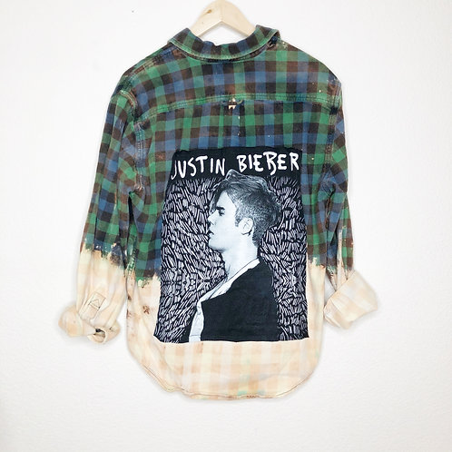 Music City Grunge Flannel: Justin Bieber