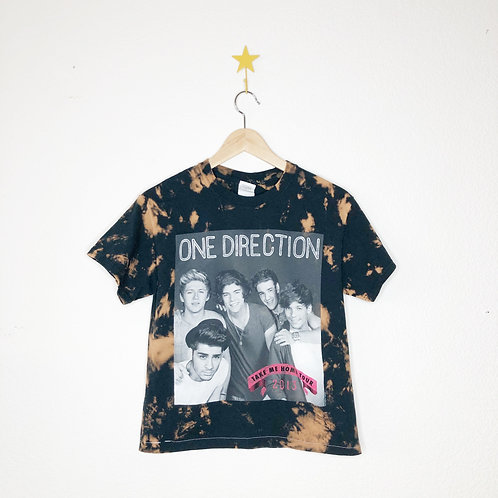 Cropped Bleached Boxy Tee: One Direction