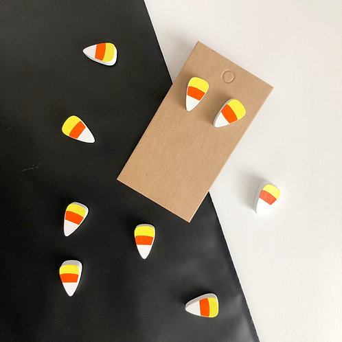 Candy Corn Studded Earrings
