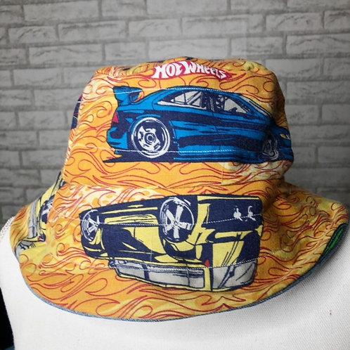 Reclaimed Bucket Hat: Hot Wheels