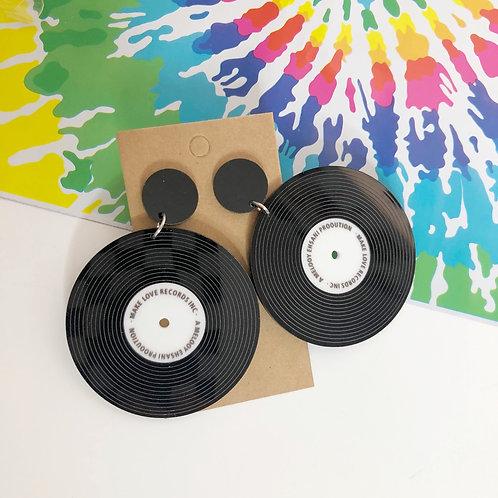 Spinning Vinyl Earrings