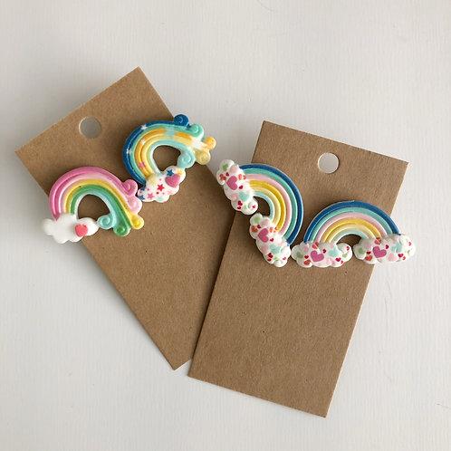 Rainbow Bright Post Earrings