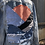 Thumbnail: Reclaimed Denim Jacket: Mountain Sunset