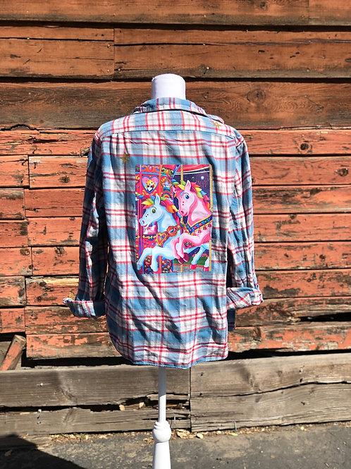 Lisa Frank Inspired Flannel: Carousel Horses