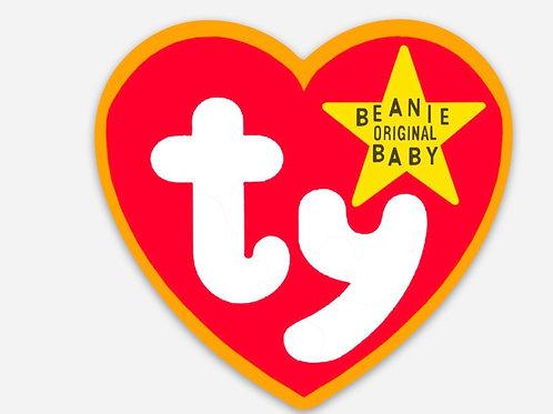 TY Beanie Baby Tag Sticker
