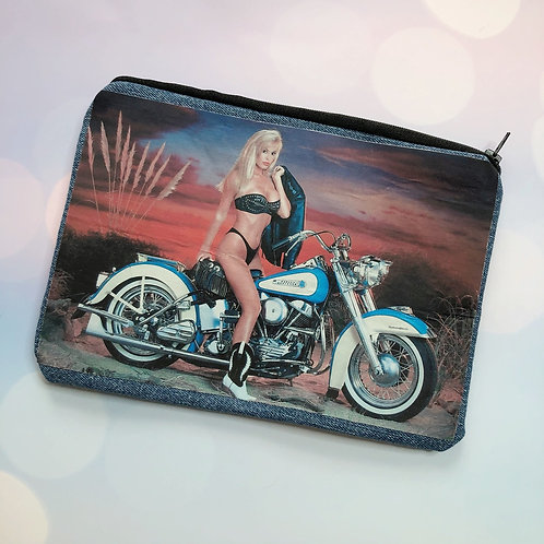 90's Harley Babe Zipper Pouch