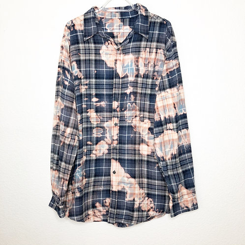 Kaleidoscope Cotton Candy Oversized Dad Flannel