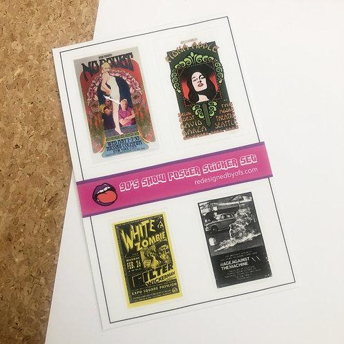 90's Nostalgia Show Poster Sticker Set V1