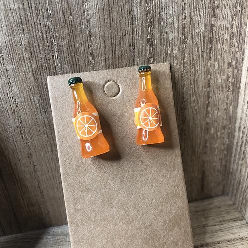 Orange Soda Bottle Earrings