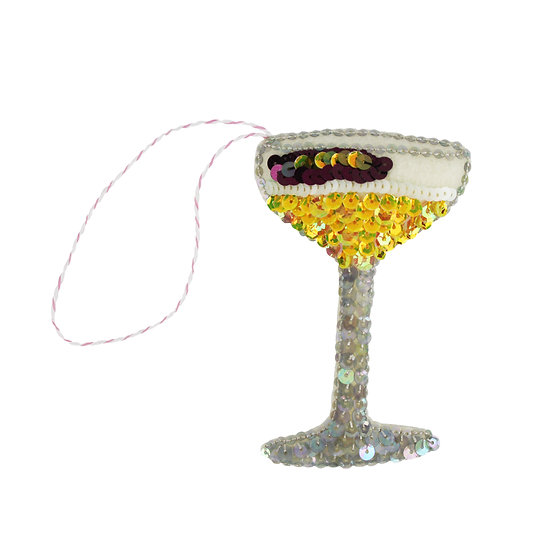 P*rn Star Martini Sequin Hanging Ornament