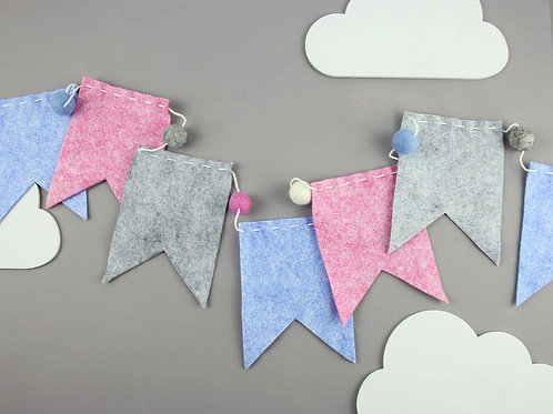 Pink & Blue Bunting