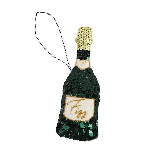 Fizz Champagne Sequin Ornament