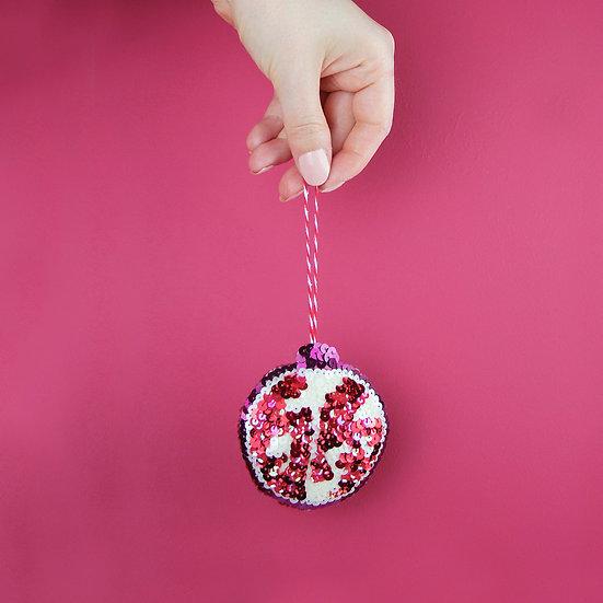 Pomegranate Sequin Hanging Ornament