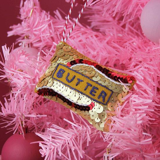 Better than Butter Sequin Hanging Ornament