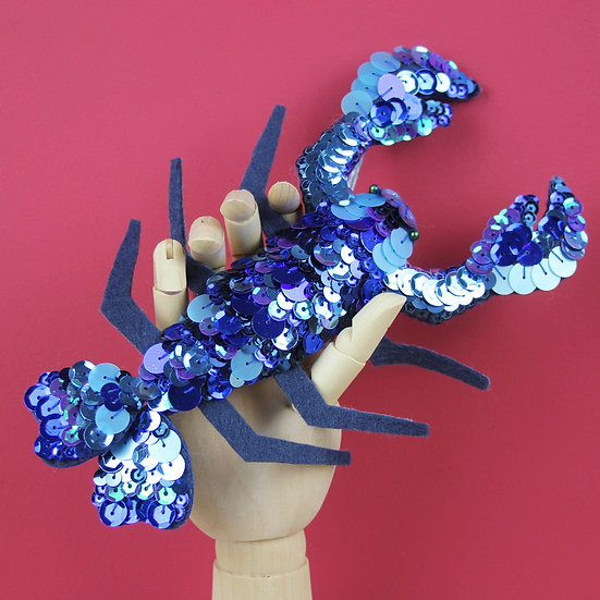 Lola The Lobster Sequin Hanging Ornament