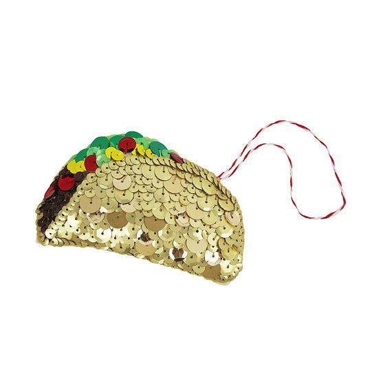 Taco Sequin Hanging Ornament