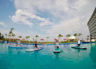 モーニングサップヨガ 沖縄のリゾートホテルで