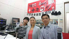 沖縄のラジオ「オキラジ」に出演