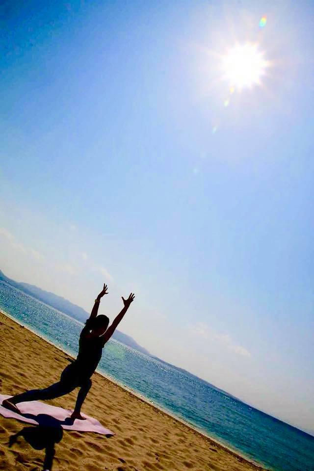 伊江島でビーチヨガをしてきました!