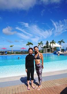 プールなのに沖縄の素晴らしさをたくさん感じられる。