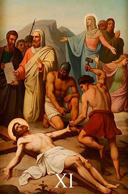 XI - Jesus é pregado na cruz.jpg