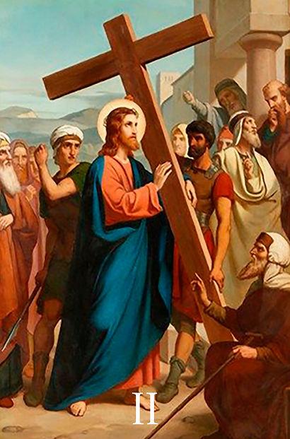 Jesus toma a Sua Cruz aos ombros.jpg