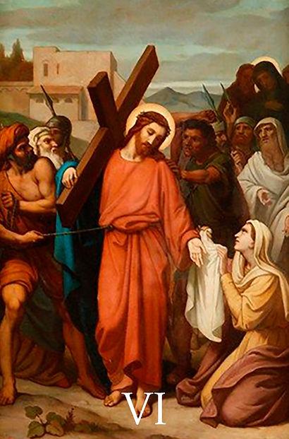 VI - Verônica enxuga o rosto de Jesus.jp