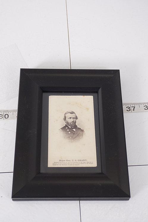 Framed Civil War Photograph - General U S Grant