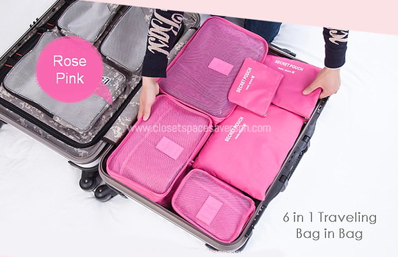 6 in 1 Luggage Packing Cubes Set