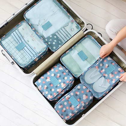 8-Pcs Basic Travel Set in Floral Daisy Print