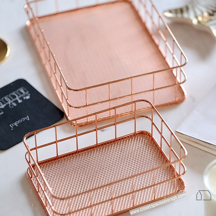 Rose Gold Decor Baskets