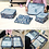 Thumbnail: 6 in 1 Travel Packing Cubes Set in Daisy