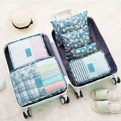 6 in 1 Travel Packing Cubes Set in Daisy