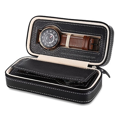 2-Slots Travel Watch Case
