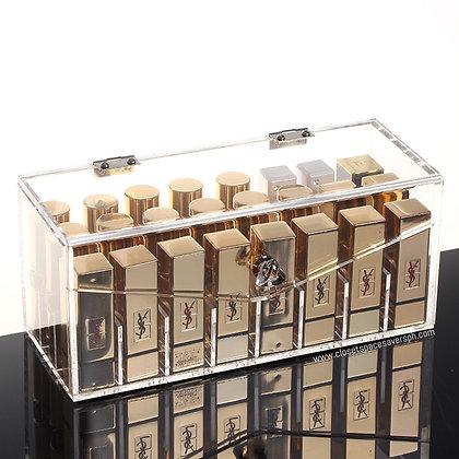 24-Slot Lipstick Holder Box with Lid