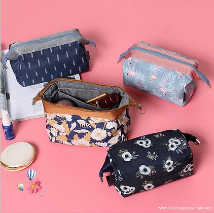 Floral Cosmetic Cube Pouch
