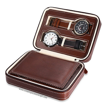 4-Slots Travel Watch Case