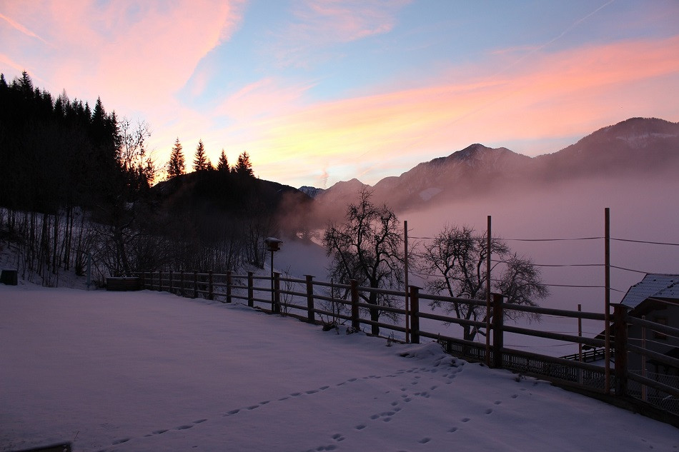 Morgenrot im Winter
