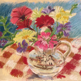 Burano jug with flowers