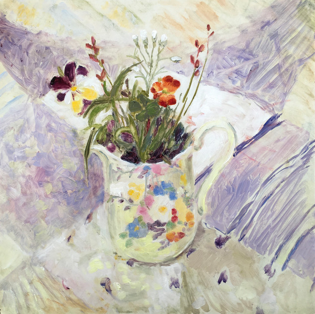 small floral cup with Viola