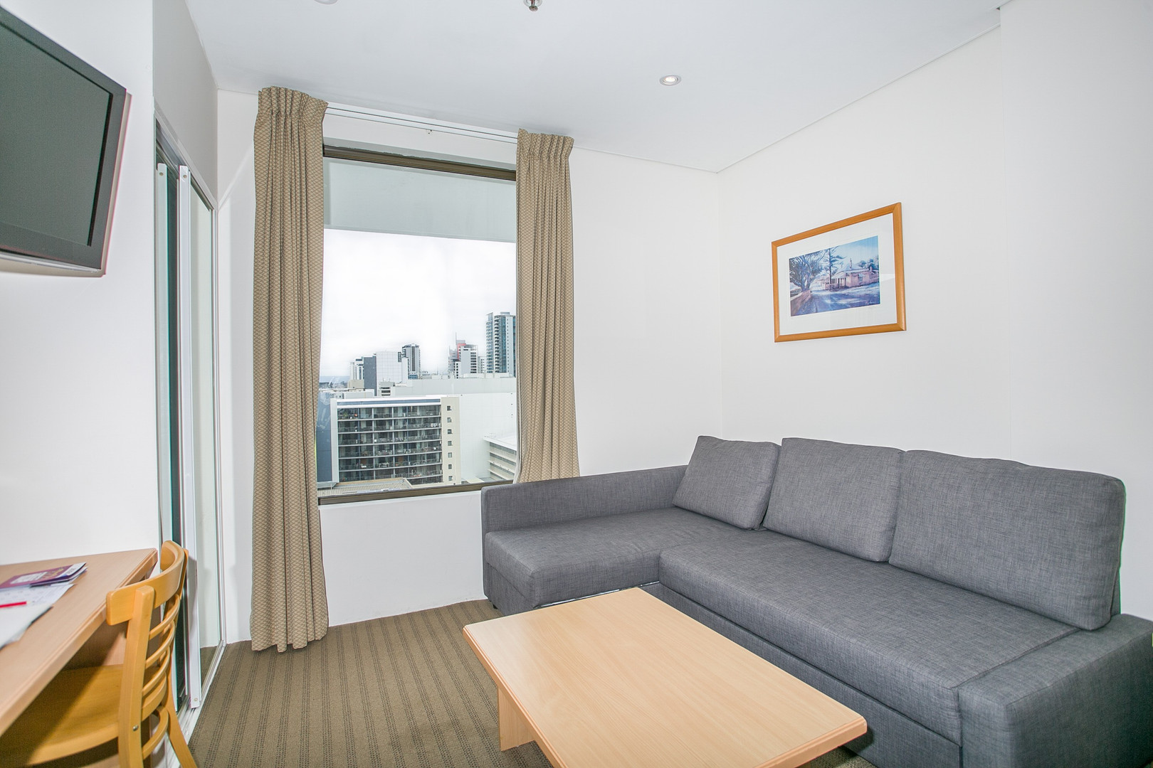 Studio Apartment Lounge - Short Term Rental Perth CBD.jpg