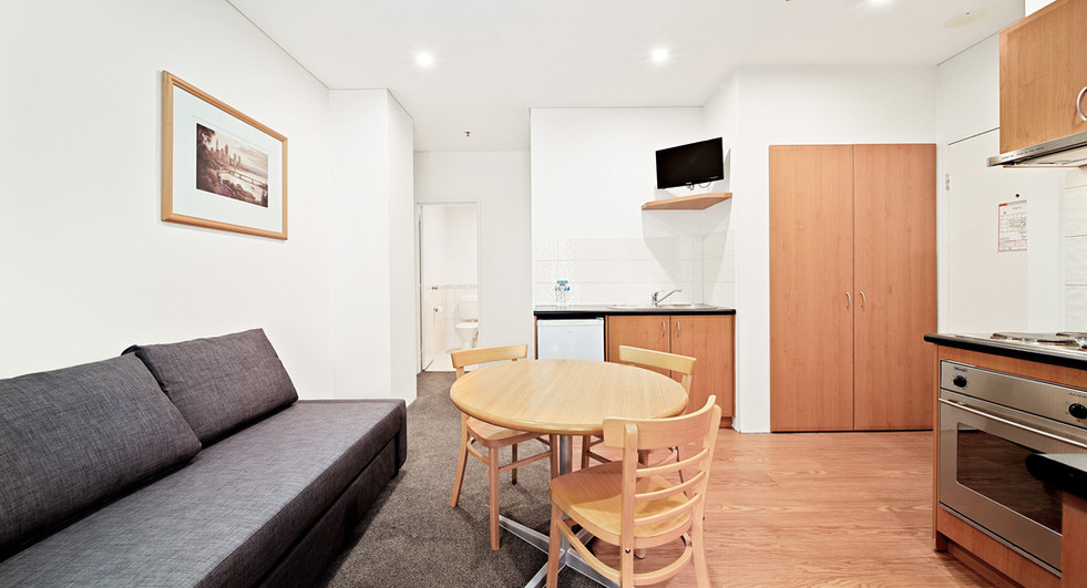 14. Lounge Kitchen Bathroom One Bedroom