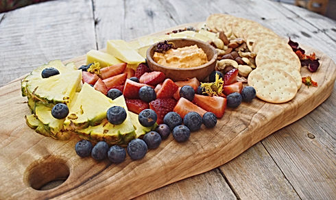fruits and cheese platter
